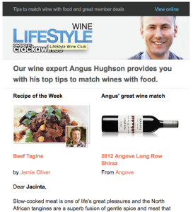 Foxtel Lifestyle Food newsletter