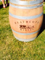 heathcote wine festival - wine barrell