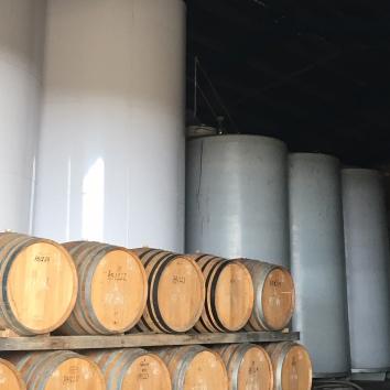 barrels tip the bottle